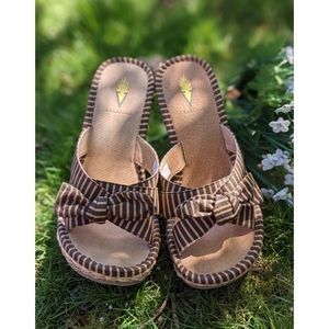 Volatile | Wicker Woven Style Wedges Sandals Size